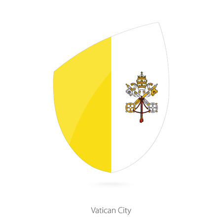 vatican city: Flag of Vatican City. Vector Illustration.