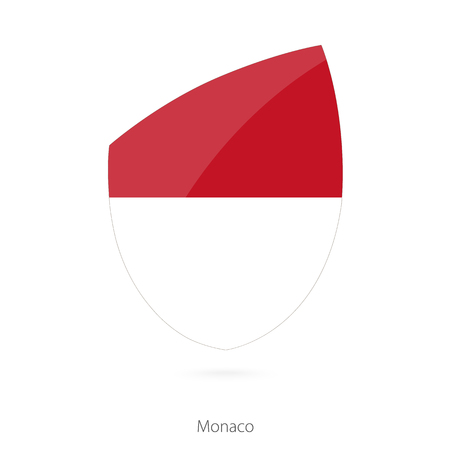 pennon: Flag of Monaco in the style of Rugby icon. Vector Illustration. Illustration
