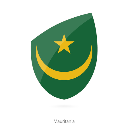 pennon: Flag of Mauritania. Mauritanian Rugby flag. Vector Illustration. Illustration