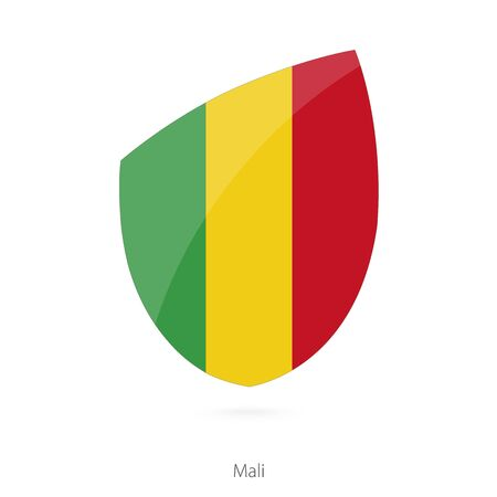 bamako: Flag of Mali. Mali Rugby flag. Vector Illustration.