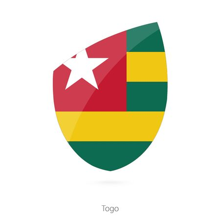 pennon: Flag of Togo. Togo Rugby flag. Vector Illustration. Illustration