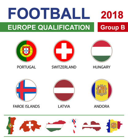 b ball: Football 2018, Europe Qualification, Group B, Portugal, Switzerland, Hungary, Faroe Islands, Latvia, Andorra