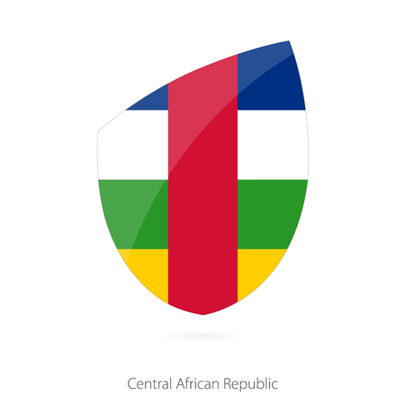 pennon: Flag of Central African Republic in the style of Rugby icon. Vector Illustration. Illustration