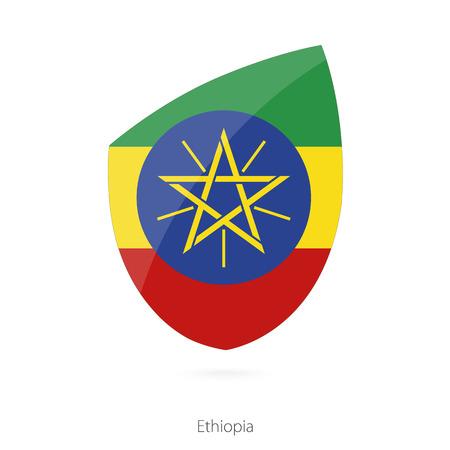 national flag ethiopia: Flag of Ethiopia. Ethiopian Rugby flag. Vector Illustration. Illustration