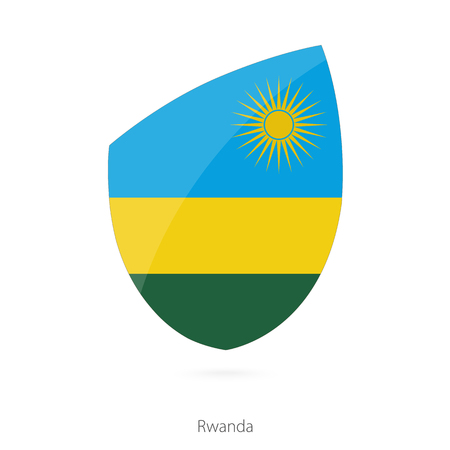 pennon: Flag of Rwanda. Rwanda Rugby flag. Vector Illustration. Illustration