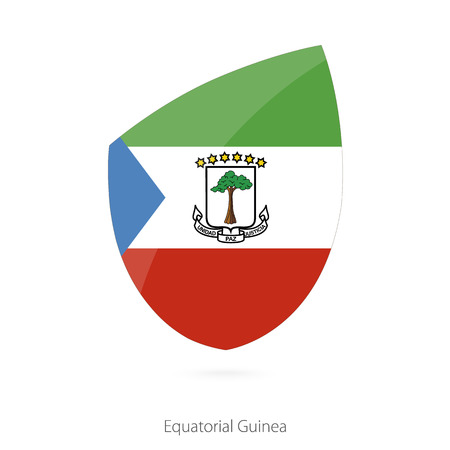 equatorial guinea: Flag of Equatorial Guinea in the style of Rugby icon. Vector Illustration. Illustration