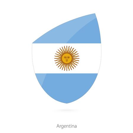 pennon: Flag of Argentina in the style of Rugby icon. Vector Illustration. Illustration
