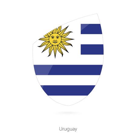 bandera de uruguay: Bandera de Uruguay al estilo del ícono de Rugby. Ilustración vectorial.