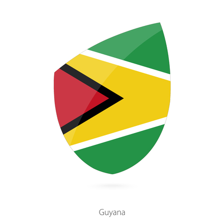 pennon: Flag of Guyana in the style of Rugby icon. Vector Illustration.
