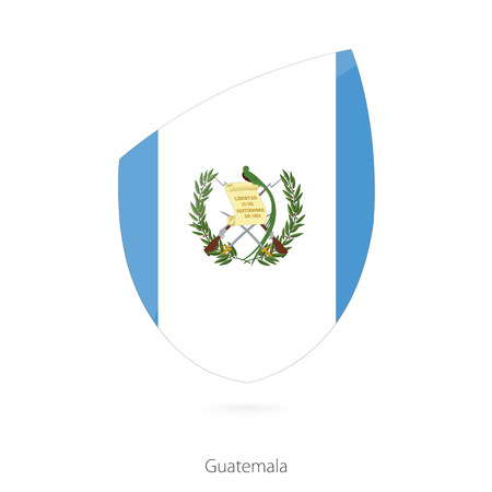 pennon: Flag of Guatemala in the style of Rugby icon. Vector Illustration.
