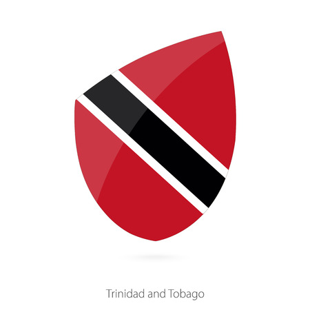 pennon: Flag of Trinidad and Tobago. Vector Illustration.
