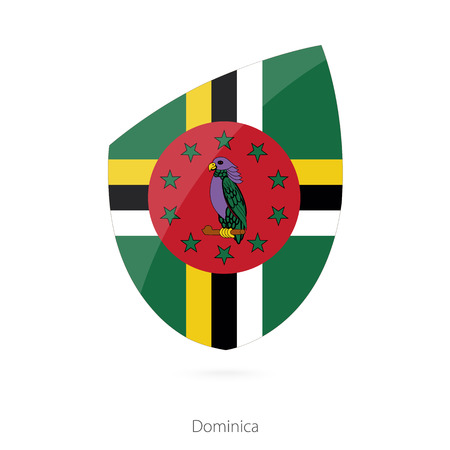 dominica: Flag of Dominica. Vector Illustration. Illustration
