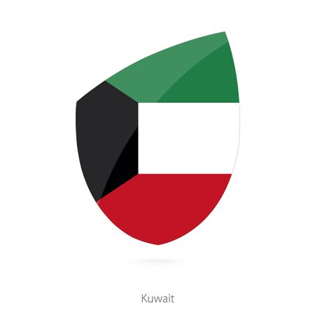 pennon: Flag of Kuwait. Vector Illustration.