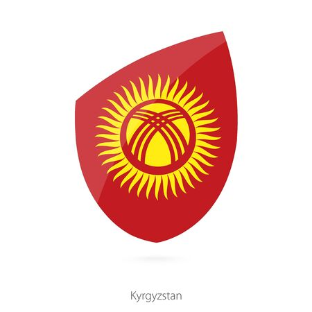 pennon: Flag of Kyrgyzstan. Vector Illustration. Illustration