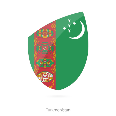 turkmenistan: Flag of Turkmenistan. Vector Illustration.