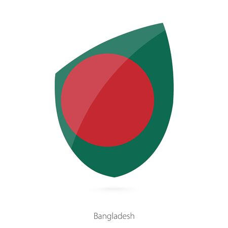 pennon: Flag of Bangladesh. Vector Illustration.