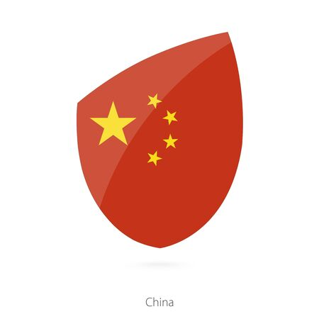 pennon: Flag of China. Vector Illustration.