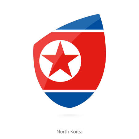 Flag of North Korea. Vector Illustration.