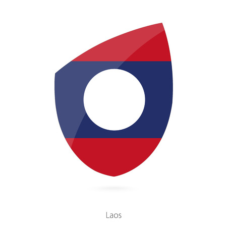 laos: Flag of Laos. Vector Illustration. Illustration