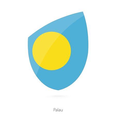 palau: Flag of Palau. Vector Illustration. Illustration