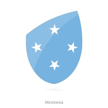 pennon: Flag of Micronesia. Vector Illustration. Illustration