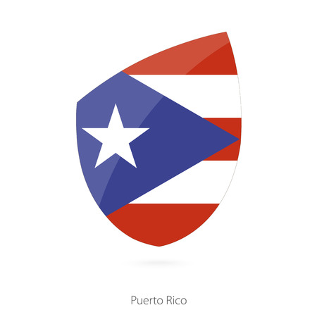 bandera de puerto rico: Flag of Puerto Rico. Vector Illustration. Vectores