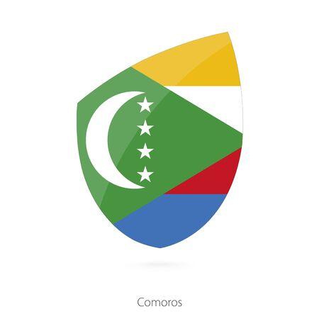 comoros: Flag of Comoros. Vector Illustration.