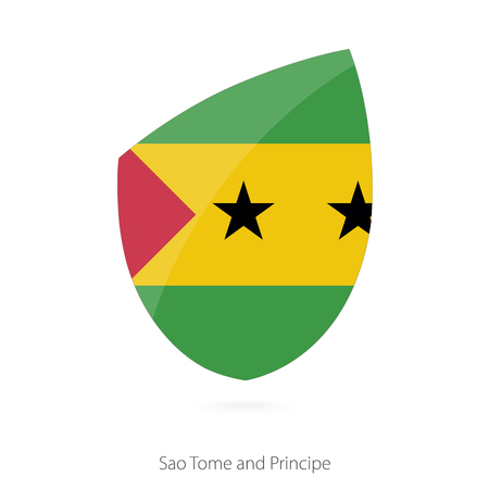 pennon: Flag of Sao Tome and Principe. Vector Illustration.