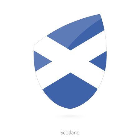 scots: Flag of Scotland. Vector Illustration.