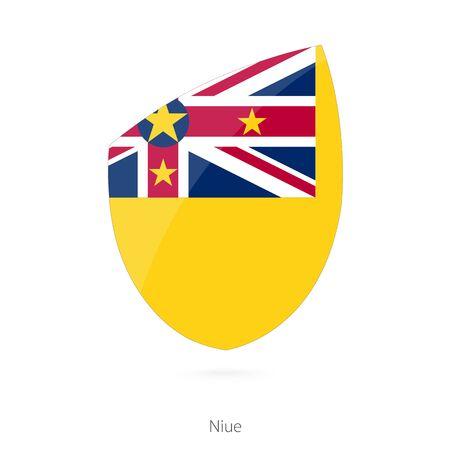 niue: Flag of Niue. Vector Illustration. Illustration