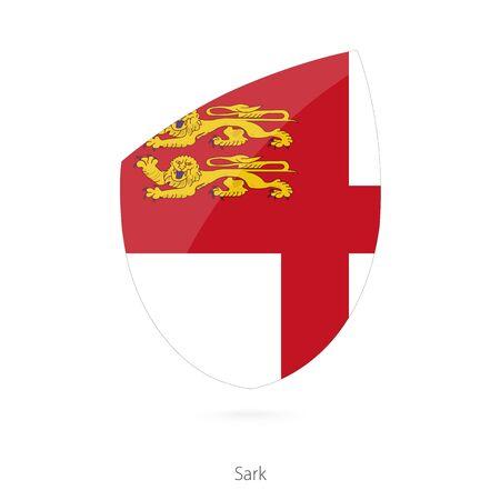 sark: Flag of Sark. Vector Illustration.
