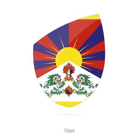 tibet: Flag of Tibet. Vector Illustration.
