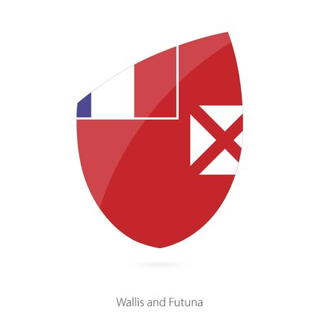 unofficial: Flag of Wallis and Futuna. Vector Illustration.