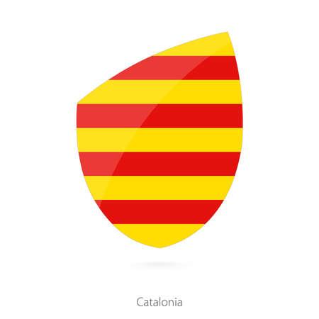 Flag of Catalonia. Vector Illustration. Illustration