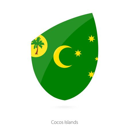 cocos: Flag of Cocos Islands. Vector Illustration. Illustration