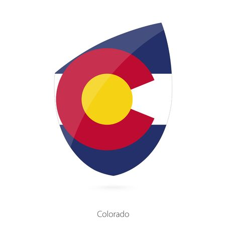 colorado flag: Flag of Colorado. Vector Illustration. Illustration