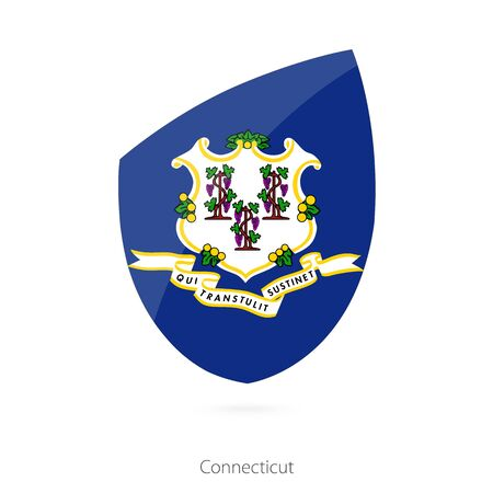 connecticut: Flag of Connecticut. Vector Illustration.