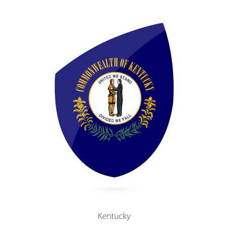 kentucky: Flag of Kentucky. Vector Illustration. Illustration