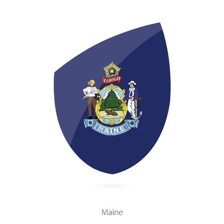 maine: Flag of Maine. Vector Illustration.