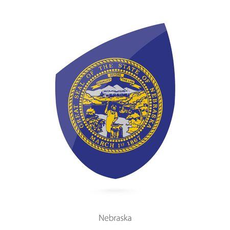 nebraska: Flag of Nebraska. Vector Illustration.