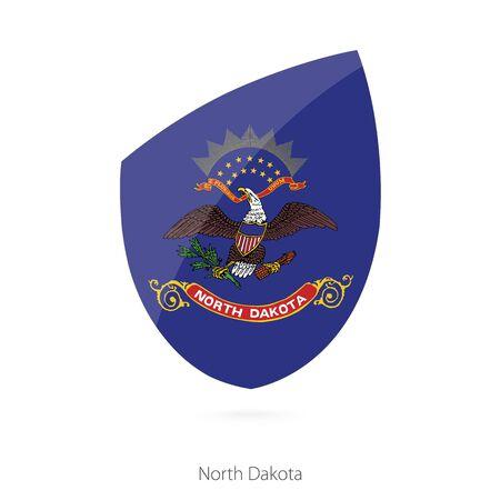 north dakota: Flag of North Dakota. Vector Illustration.