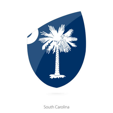 Flag of South Carolina. Vector Illustration.