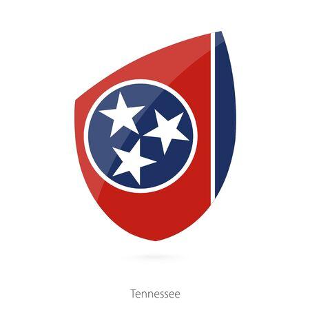 tennessee: Bandera de Tennessee. Ilustración del vector.