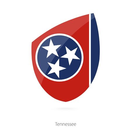 tennessee: Flag of Tennessee. Vector Illustration.