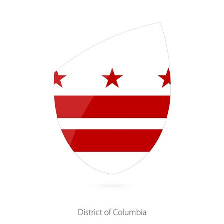 district of columbia: Flag of District of Columbia. Vector Illustration.