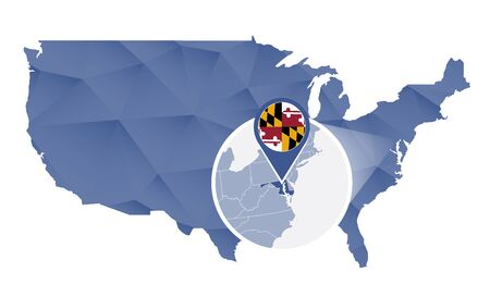 Maryland Map Stock Vector Illustration And Royalty Free - Maryland map usa