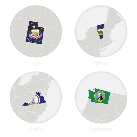 Colección De La Bandera De Washington, EE.UU. Estado, 12 Versiones ...