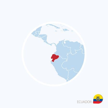 Map pin with detailed map of ecuador and neighboring countries 71765332 map icon of ecuador blue map of europe with highlighted ecuador in red color vector illustration gumiabroncs Image collections