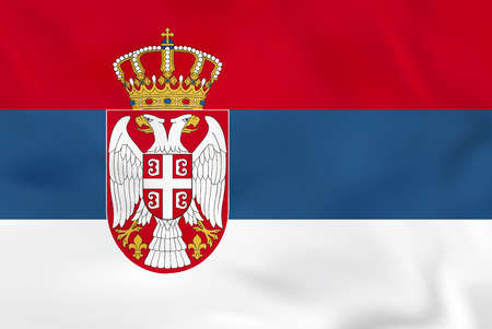 Serbia waving flag. Serbia national flag background texture. Vector illustration.