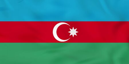 national geographic: Azerbaijan waving flag. Azerbaijan national flag background texture. Vector illustration.